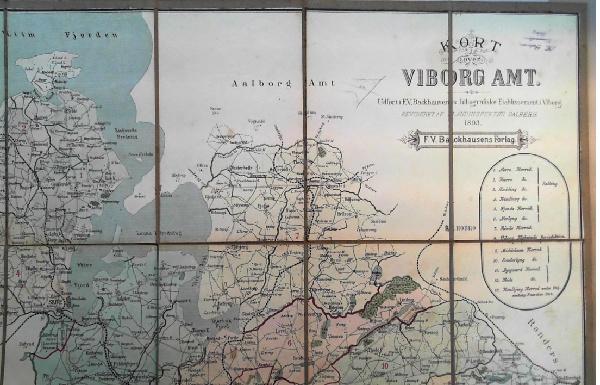 Kob Kort Over Viborg Amt Af Dalberg Udgivet 1893 987111